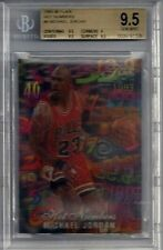 Michael Jordan Hot Numbers BGS Gem Mint 9.5 non auto RARE 90's Insert  3 x 9.5s