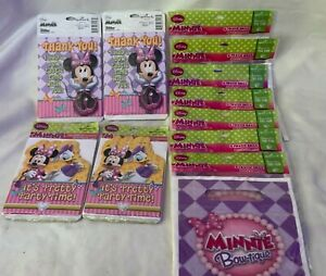 Minnie Mouse Birthday Party Supplies 32 Invitations & Thank You + 56 Favor Bags