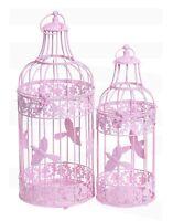 PINK ROUND WEDDING BIRDCAGE TABLE CENTREPIECE VENUE DECORATIONS FLAT BASE CS082