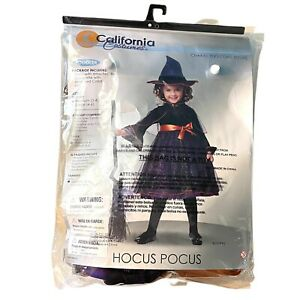 Toddler Hocus Pocus Witch Costume Size Med. 3T-4T Harry Potter Halloween Costume