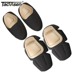 TACVASEN Tactical Combat Elbow Knee Pads Insert CS Training SWAT Protective Gear