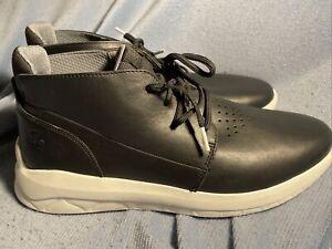 Timberland Bradstreet Ultra Chukka Ankle Boots A42F1 Black Leather Sz 10.5