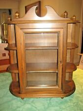 Large Vintage Wood Curio Cabinet Tabletop Or Wall Mounted 23