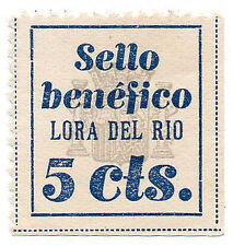 Sello Local Guerra Civil Lora del Rio -Cat. Galvez 417.  ORD:347