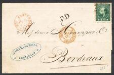 NR.10 I A, PUNTST.5 OP BRIEF AMSTERDAM-BORDEAUX 16 OKT 69,GRENSST., LEES ! Ab855