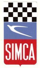 SIMCA Damier Sticker vinyle laminé