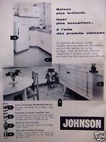 PUBLICITÉ 1959 JOHNSON FAIT BRILLER LINOS CARRELAGES PARQUETS - ADVERTISING