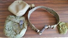 US Army MEDIUM BELT with 2 QT. CANTEEN,POUCH and FIRST AID POUCH