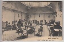 CPA  PARIS 75 -  SALON HALL HOTEL LOUVOIS CLIENTS PALACE TOURISME 1905 ~B67
