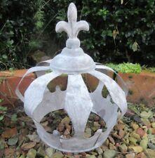 Déco Couronne Antique Métal de Roi Jardin Fleur Lis Décoration