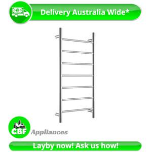 Round 6 Rung Bathroom Towel Ladder 920mm x 460mm Stainless Steel Non Heated