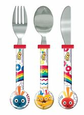 Childrens - Twirly Woos 3 piece knife, fork and spoon set - dinner cutlery set