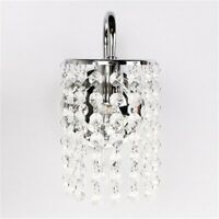 Chrome Iron Crystal Droplets Wall Light Decorative Light Modern Wall Sconce-%