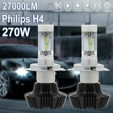 Philips Pair 7HL H4 270W 27000LM LED CAR HEADLIGHT KIT BULBS Hi/Lo Beam US Stock