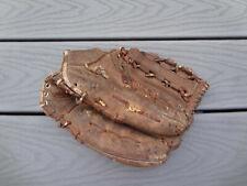 Vtg Spalding Left Hand Leather Pro Style Split Action Web Baseball Glove Mitt