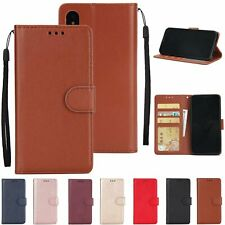 Business Magnetic Leather Card Wallet Stand Flip Case For iPhone Huawei Xiaomi