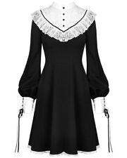 Dark In Love Gothic Mini Dress Black White Skull Lace Victorian Steampunk Witch