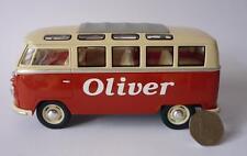 Personalised Plate Gift Orange VW Camper Van Bus 17cm 1/24 Boys Girls Toy Model