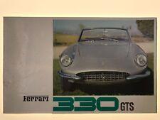 FERRARI 330 GTS N. 14/67 CATÁLOGO ORIGINAL BROCHURE DEPLIANT PROSPEKT  AÑO 1967