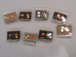 11 Pairs Of Vintage Corocraft Stud Style Magnetic Earrings