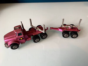 K-10 Matchbox Superkings Diecast Purple Scammel Contractor Pipe Truck 1971