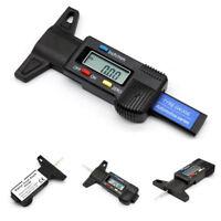 LCD Digital Tyre Depth Gauge Motorbike Car Tire Thread Micrometer Measure Tool