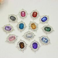 5 Pieces Acrylic Flat backed Rhinestone Cabochons Jewelry Decoration