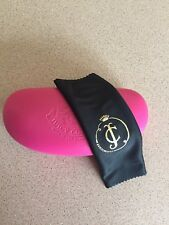 Juicy Couture Pink Hard Clamshell Sunglasses Case With Black Cleaning Cloth