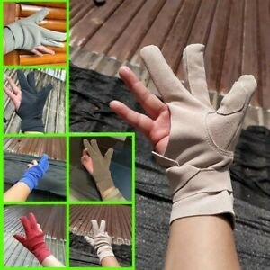 Leather 3 Finger Gloves Cover For Mongolia Archery / Japan Long Bow String Hand