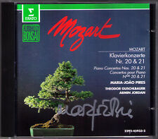 Maria Joao PIRES Signed MOZART Piano Concerto No.20 & 21 Theodor GUSCHLBAUER CD