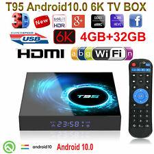 T95 6K 4+32G Android 10.0 Smart TV Box Quad Core 2.4G WIFI Media Player HDMI USB