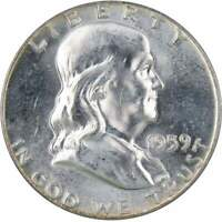 1959 50c Franklin Silver Half Dollar US Coin Uncirculated Mint State