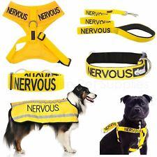 More details for dexil nervous worded dog lead, buckle collar, strap, vest harness or coat