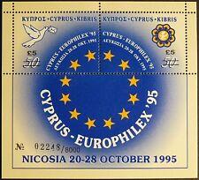 Zypern, gr.: Block 18, Überdruckausgabe, EUROPHILEX 1995 mit Folder, postfrisch