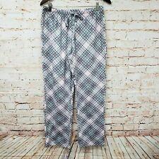 Croft & Barrow Intimates Womens Faux Fur Pajama Lounge Pants Sz M Multi Color