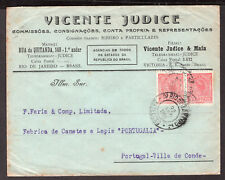 751 BRAZIL TO PORTUGAL COVER 1918 RIO - VILLA DO CONDE