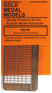 Gold Medal Models 160-56 - Assorted Grab Irons (168)  - N Scale