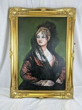 "LIONEL RALPH WALKER - ""Portrait of Dona Isabel De Porcel"" - Framed Oil Painting"