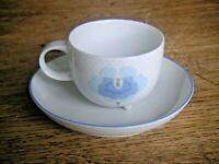 Exzellente Erhaltung! ROSENTHAL Century blaue Blume 1 Kaffeegedeck  3-teilig