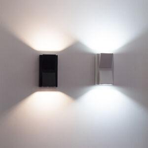 APPLIQUE A LED COB INTERNO ESTERNO FARETTO A DOPPIA LUCE 10W LAMPADA MURO PARETE