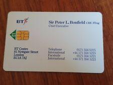 BT PHONECARD VISITING CARD SIR PETER L. BONFIELD MINT £1 VIS022 RARELY OFFERED