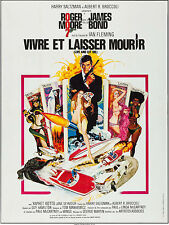 """Movie Poster Live and Let Die French Grande 1973 47""""x63"""" VF 8.0 James Bond"""