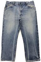 Distressed Workwear BULWARK Jeans Mens 38x28 faded grunge worn vintage