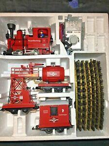 LGB 70940 Fire Brigade Train With Steam Locomotive Sound * Original Box * Rare *