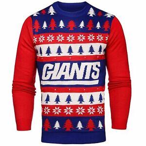 NFL Mens N.Y. GIANTS Light Up Christmas Sweater. MEDIUM. NWT's