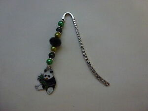 *Hand Crafted Panda Charmed Pearl Beaded Bookmarks - Perfect & Unique Gift*