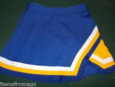 """Yth Small Blue, Yellow, White Cheerleader UNIFORM SKIRT 22-23"""" GIRLS Pep Threads"""