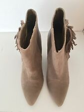 QUPID New Women's Taupe Faux Suede & Leather Maddox Wedges Heels Shoes Sz 6