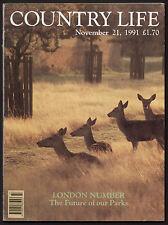 Country Life Nov 1991 LADBROKE SQUARE 29 PERCY STREET DESERT DE RETZ HIGGINSON
