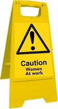 Caution Women At Work (Health And Safety Sign)